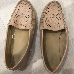 Beige loafers size 9.5